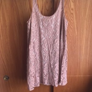 Bar III lace blush dress